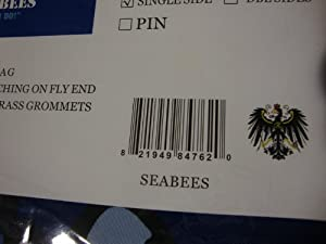 """3x5 Blue Seabees """"Can Do!"""" Solarmax Nylon 210D Flag 3'x5' Banner with clips by RFCO"""