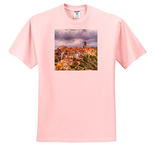 3dRose Danita Delimont - Italy - Italy, Tuscany, Montegiovi, The Medieval Town Of Montegiovi. - T-Shirts - Adult Light-Pink-T-Shirt Small (TS_277678_34)