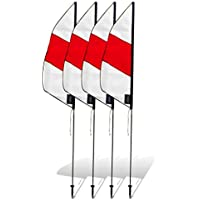 Premier RC 3.5 Ft Boundary Marker for Drone Racing (set of 4) - Red and White