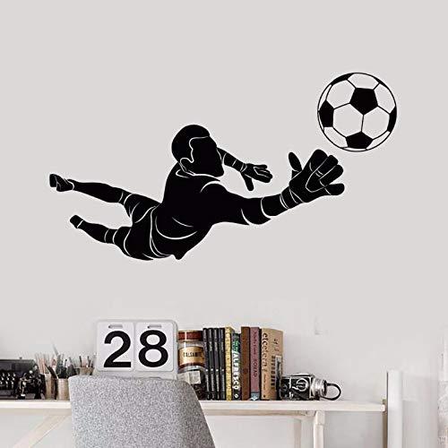 SeedWorld Wall Stickers - Sport Wall Sticker Removable Soccer Goalkeeper Player Wall Decal Kids Boys Room Decor Vinyl Sports Art Mural Wall Sticker AY573 1 PCs