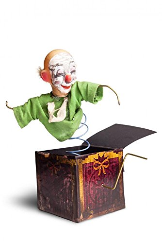 Wallmonkeys Photo of a Vintage Jack-in-the-box Toy Isolated Peel and Stick Wall Decals WM297044 (48 in H x 32 in (Creepy Clowns Pictures)
