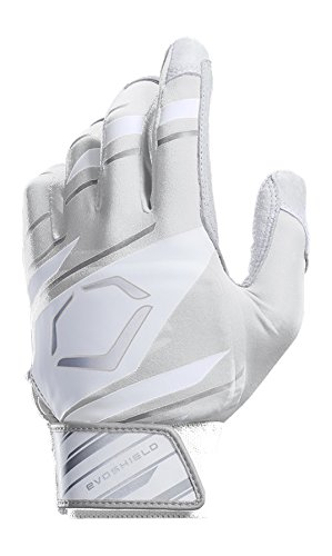 EvoShield Protective Speed Stripe Batting Gloves, White/Grey, Large
