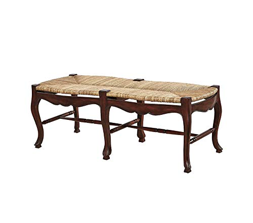 Backless Wooden Bench Mahogany Decor Comfy Living Furniture Deluxe Premium Collection