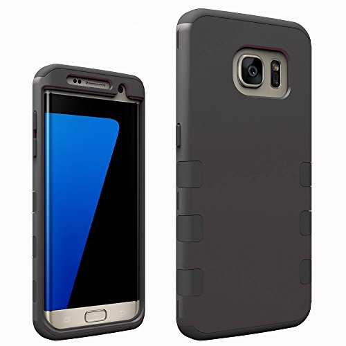 Galaxy S7 Edge Casec Osurce Full Protection Heavy Duty Hybrid Soft Silicone Rugged Armor Hard Inner Case Cover for Samsung Galaxy S7 Edge - Shock Absorbing (Black  plus  Black)