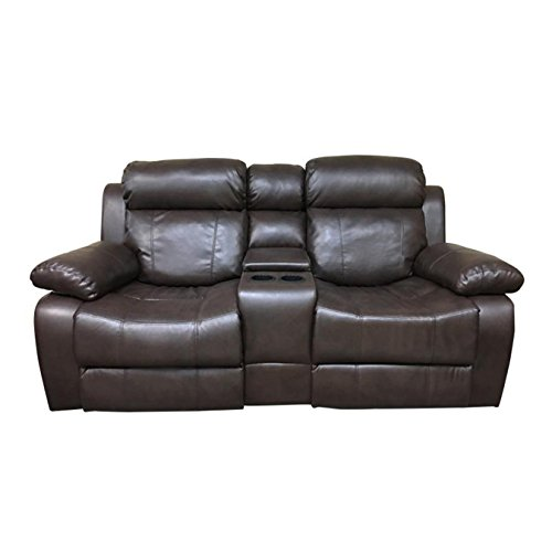 Coja by Sofa4life Murphey Faux Leather Loveseat ()
