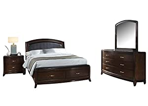 Great Liberty Avalon Bedroom Set With King Bed, Nightstand, Dresser And Mirror