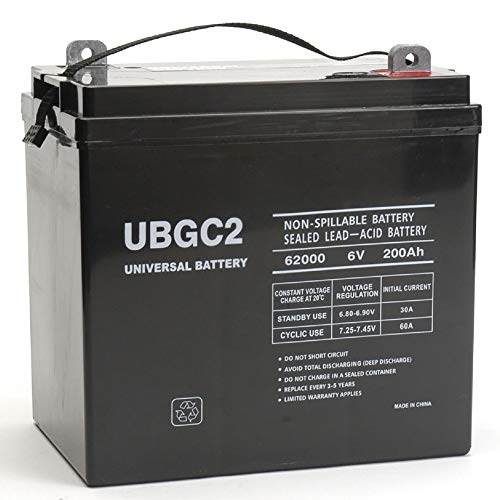 Gel Golf Cart Batteries - Universal Power Group UBGC2 Sealed AGM Deep Cycle 6V 200AH Battery Golf Cart RV Boat Camper Solar