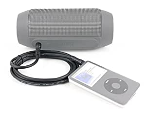 DURAGADGET Auxiliary (AUX) 3.5mm Male Stereo Jack to Jack Connecting Cable for the JBL Pulse Wireless Bluetooth Portable Speaker