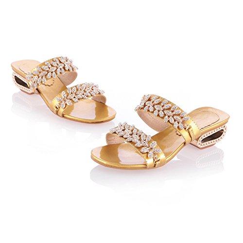 Zanpa Women Fashion Mules Slides Sandals 2#gold WEV93bRRXt