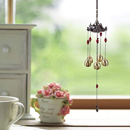(Chime Bell - Retro Wind Chimes Metal Multi Tube Antirust Extra Large Copper Alloy Bells Birthday Hanging - Alloy Brake Game Charms Enamel Wind Chimes Hanging Decorations Large Bell Garden)