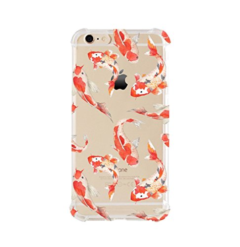 iPhone 6/6s Shock Absorption Case (4.7 inch screen), Watercolor koi fish Design (Iphone 6 Cases Koi Fish)