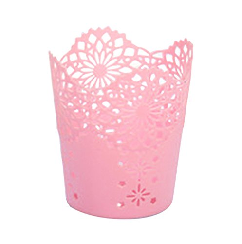 WeiMay 1 PC Pencil Pot Holder Hollow lace Plant Vase Pen Makeup Brush Desk Supplies Organisers - Vases Lace