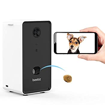 Image of Iseebiz Smart Pet Camera, Dog Camera Treat Dispenser, 2-Way Audio, 720P Night Vision Camera, App Control(Android/iOS) Treat Tossing, 2.4G Wifi Enable, Compatible with Alexa, Monitor Your Dogs and Cats Pet Supplies
