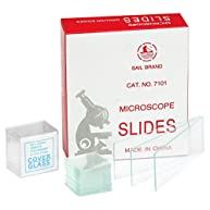 CB 7101S1 72-Pieces Blank Microscope Slides & 100-Pieces Square Cover Glass