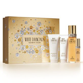 White Diamonds By Elizabeth Taylor Fragrance Gift Set (3.3 Oz Eau De Toilette Spray + 0.5 Oz Eau De Parfum Spray Mini + 3.3 Gentle Moisturizing Body Wash + 3.3 Perfumed Body Cream)
