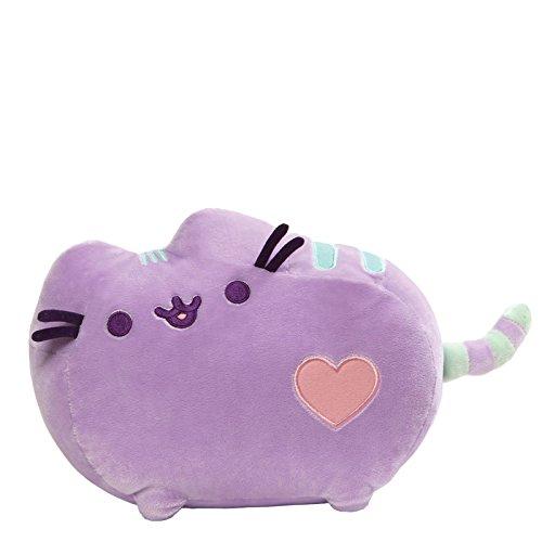 GUND Pusheen Heart Pastel Cat Plush Stuffed Animal, Purple, 12