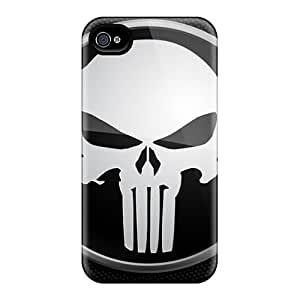 Hot Design Premium CtuCYqc1740gLShB Tpu Case Cover Iphone 4/4s Protection Case(punisher)