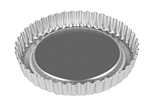 Alan Silverwood Aluminium Loose Base 10 inch Savoury Flan Set with Raised Base
