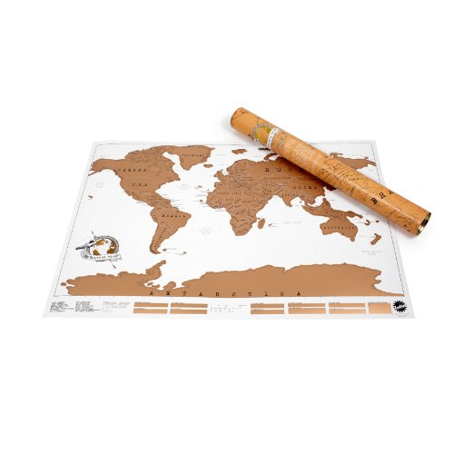 Scratch Map Original Scratch off Map, Personalized World Travel Map Poster with countries, states, cities,...