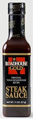 Texas Roadhouse Gold Steak Sauce 11oz Bottle (Pack of 3)