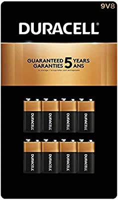 CopperTop D Alkaline Batteries with recloseable package long lasting Duracell 8 count all-purpose D battery for household and business