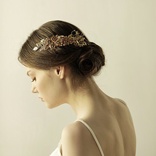 Athena Goddess Costume Ideas (Goddess Gold Leaf Hair Side Comb - Bridal Wedding Headband Combs Greek Tiara Hair Accessories)