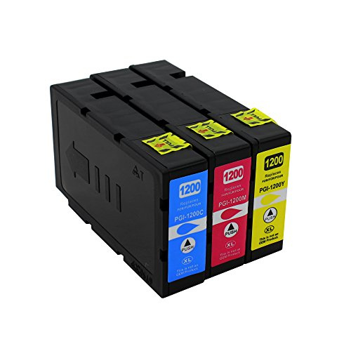 Big Dew 3PK PGI-1200XL 1200 XL Compatible Color Ink Cartridges For Canon MAXIFY MB2020 MB2320 MB2120 MB2720 (Cartridge 3pk Large Box)