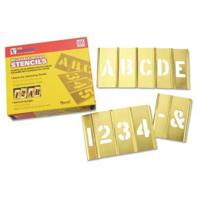 SEPTLS33710073 - C.H. Hanson Brass Stencil Letter Number Sets - 10073