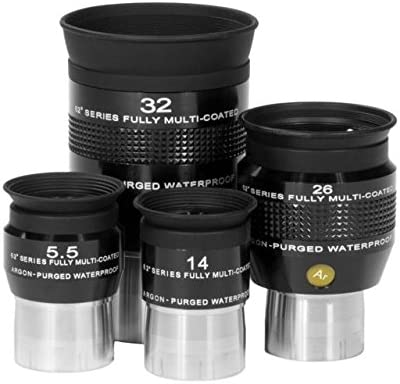 Explore Scientific 5.5 26 and 32mm Argon-Purged Waterproof Eyepiece 62 degree Set EPWP62 KIT 14