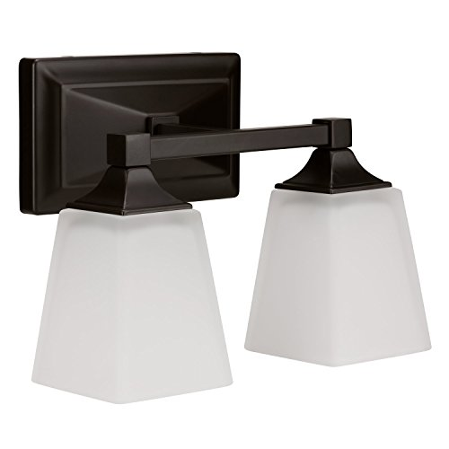 LB74112 LED 2-Light Bath Vanity light, Oil Rubbed Bronze, 15-Watt (120W Equiv.) 4000K Cool White, 1050 Lumens, 12