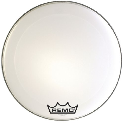 Remo PM2022-MP-U Powermax 2 Ultra White Crimp lock Bass Drumhead, 22'' by Remo