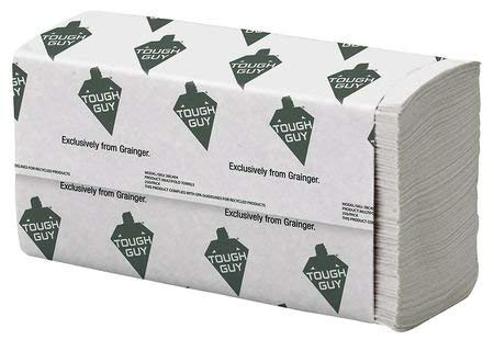 Tough Guy White Paper Towels Multifold, 16 Pack, 250 Sheets/Pack