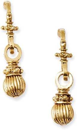 Gold-tone Textured Post Dangle Earrings