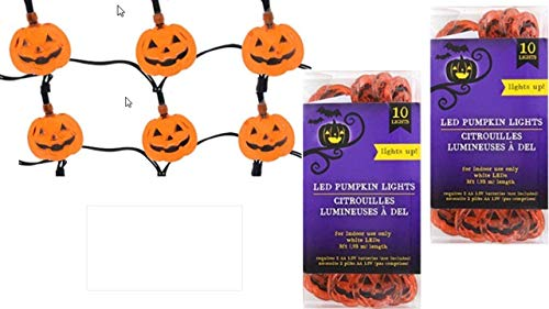 Pumpkin Lights - Halloween Decor (2 packs) Craft Projects - Halloween String Lights - Bring New Drama To Any Halloween Craft Project - Halloween Decorations - LED Lights Battery for $<!--$5.99-->