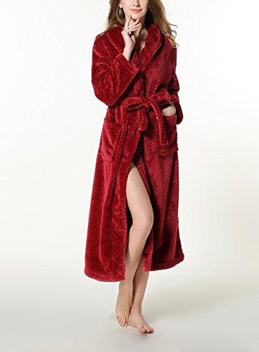 Happyelf - Bata - para mujer rojo oscuro