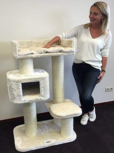 Rascador para gatos grandes Devon Rex Crema baratos arbol xxl maine coon gato adultos con hamaca gigante sisal muebles sofa escalador torre Árboles rascadores cama cueva repuesto medianos: Amazon.es: Productos para mascotas