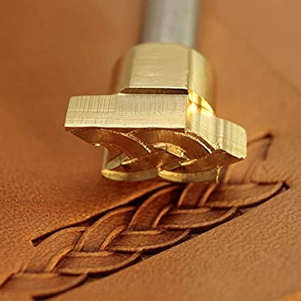 Leather Working Tools Leaves Carving Punches Stamp Craft Saddle Brass #257