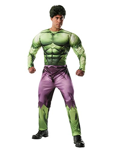Rubie's Men's Marvel Universe Adult Deluxe Hulk Costume, Multi, -