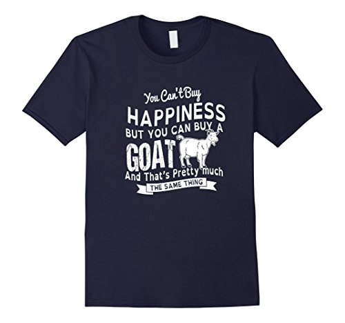 Mens Happiness Goats T-Shirt Design XL Navy