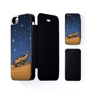 Wooden Plane Carcasa Protectora Snap-On Negra en Formato Duro para Apple® iPhone 5 / 5s de Nick Greenaway + Se incluye un protector de pantalla transparente GRATIS
