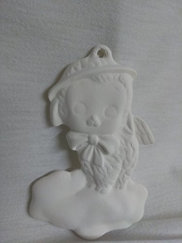Ready To Paint Lamb on a Cloud Ornament Ceramic Bisque