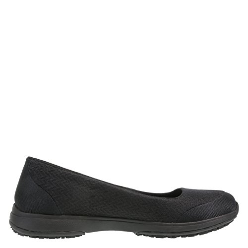 Women's Athletic Gem Resistant safeTstep Slip Flat Black dnRqRIA
