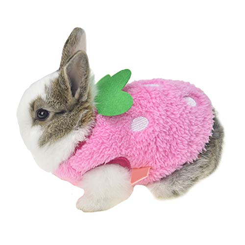 (FLAdorepet Winter Warm Bunny Rabbit Clothes Small Animal Chinchilla Ferret Costume Outfits (3XS(Bust 8.6