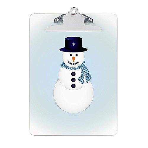 Clipboard Snowman with Winter Blue Aura Aura Clip
