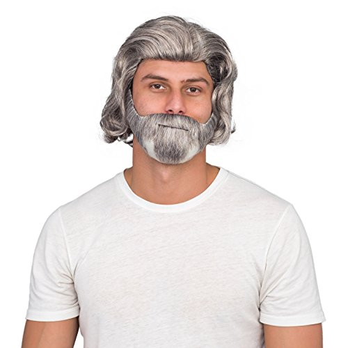 Luke Sky Deluxe Costume Accessory White Wig and Beard Set -