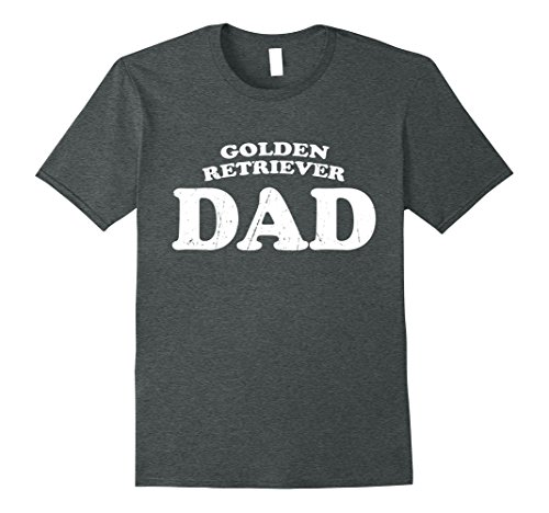 Mens Golden Retriever Dad Dog Father Cute Pet Distressed T-Shirt XL Dark Heather