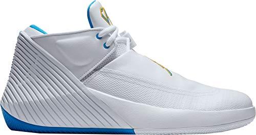 Jordan Men's Why Not Zer0.1 Low Basketball Shoes (7.5-M, White/Blue/Yellow)