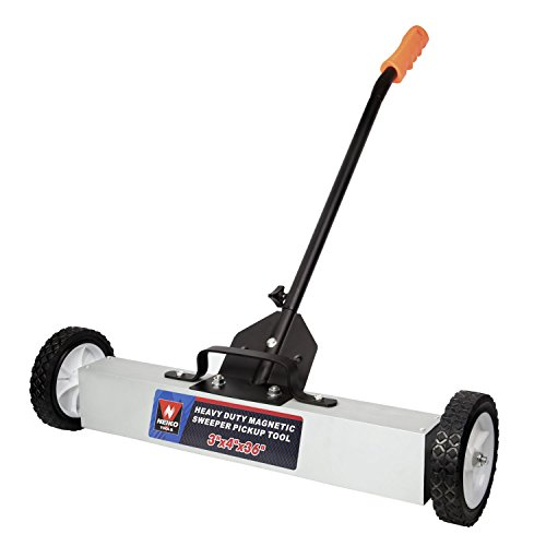 Neiko 53418A 36-Inch Magnetic Pick-Up Sweeper with Wheels | 30-LBS (Duty Pickup Wheel)