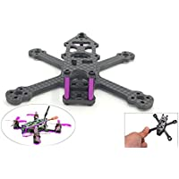 usmile SPC 95 X 95mm 3mm thickness Micro Carbon Fiber Quadcopter Frame for Blade inductrix Tiny Whoop suit for 1104 motor 2035 props 2s 500mah battery 2020mm Flight controller
