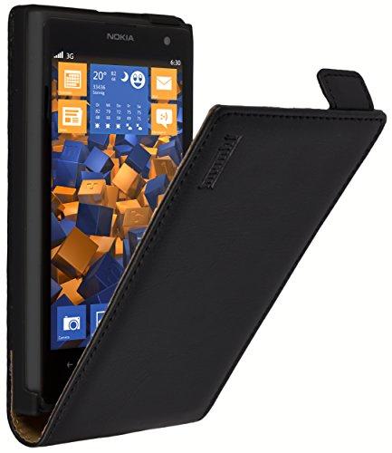 mumbi PREMIUM Leder Flip Case Nokia Lumia 1020 Tasche
